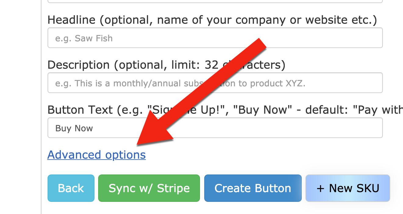 Click adv options