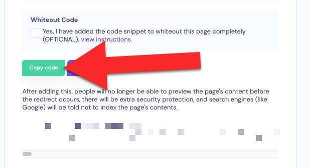 Click copy code in edit page