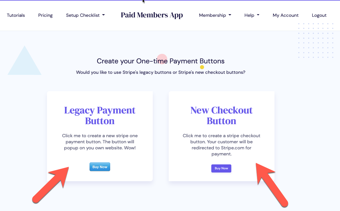 Click legacy payment or new checkout