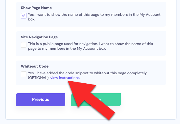Edit page view instructions