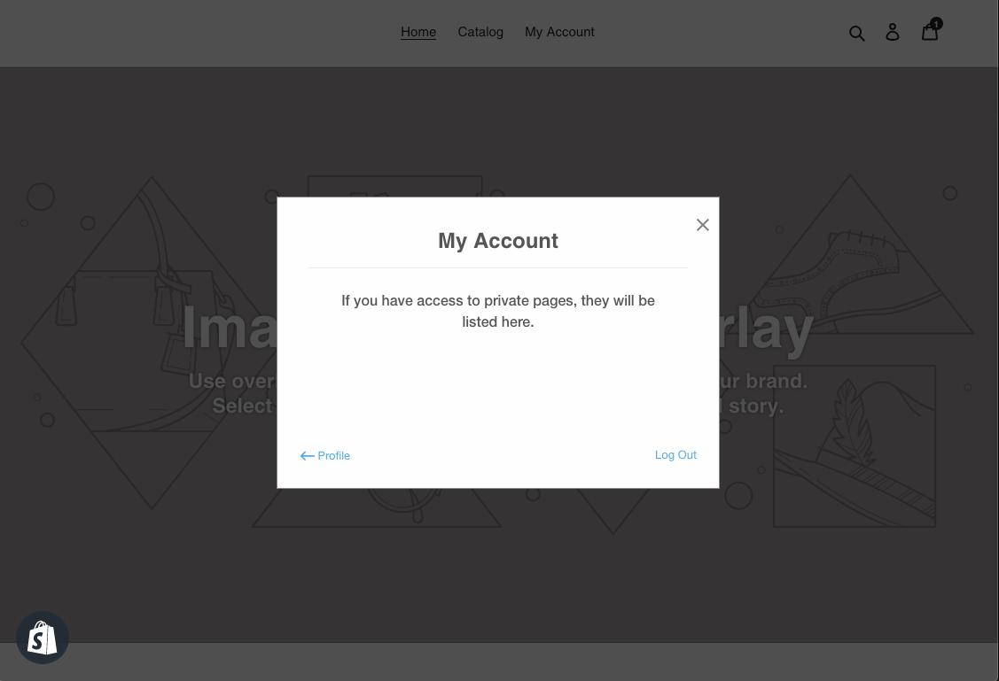 My account form