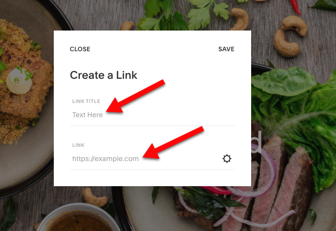Add widget to squarespace enter link