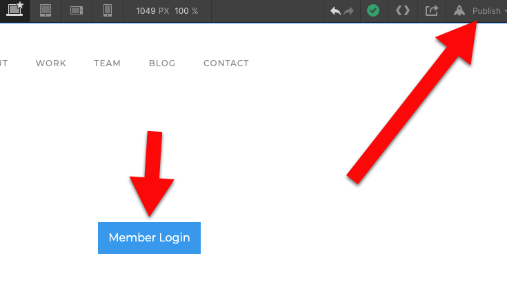 Member login publish