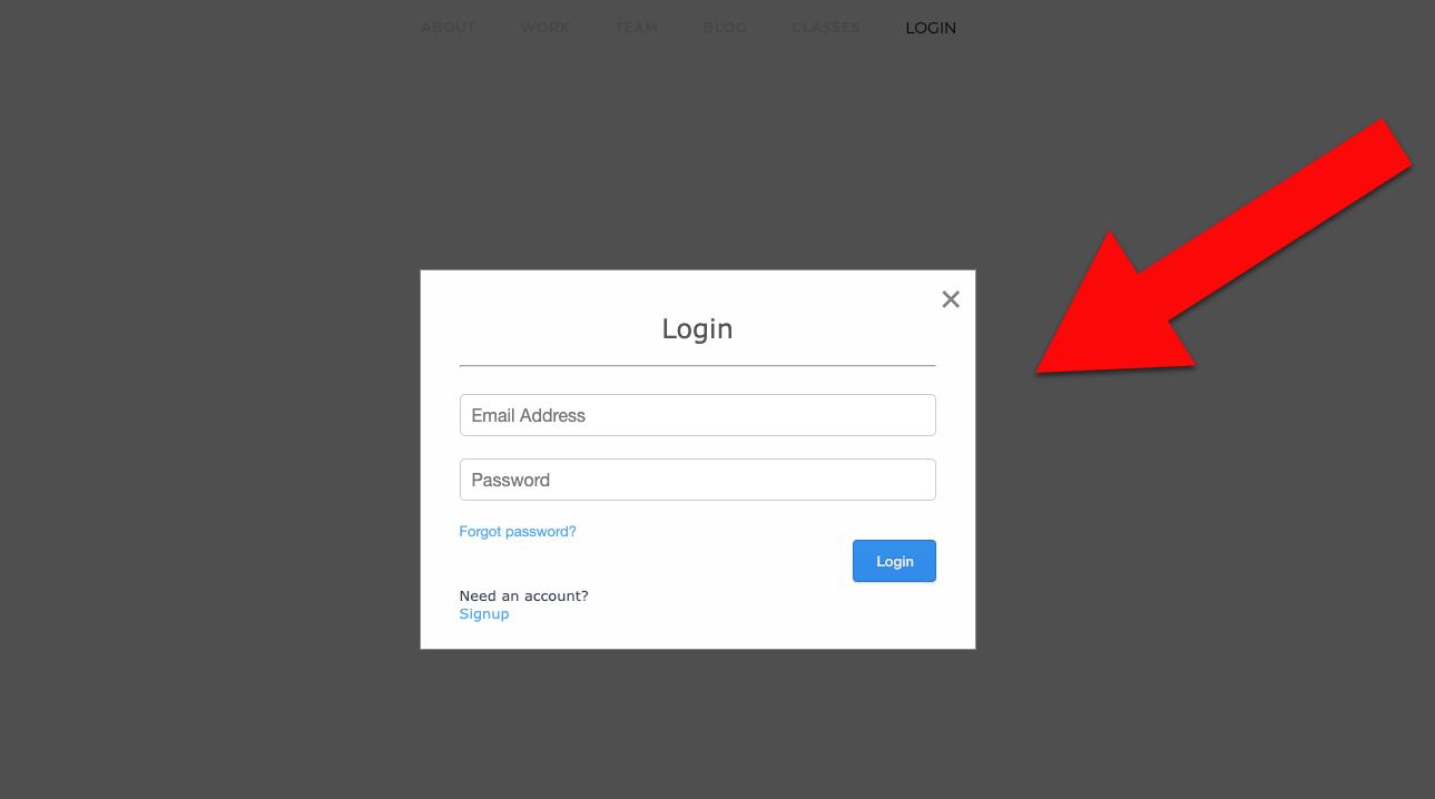 Webflow login