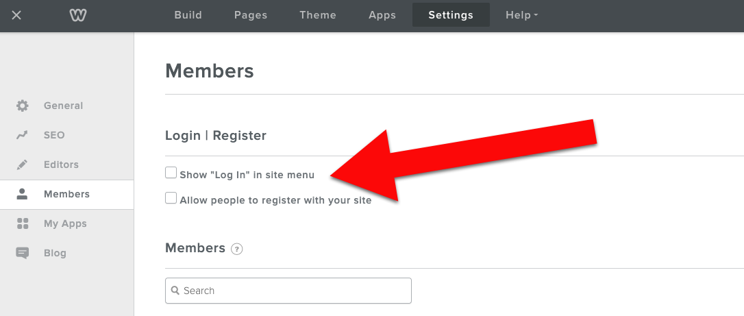 Weebly checkboxes after