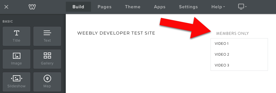 Weebly dropdown