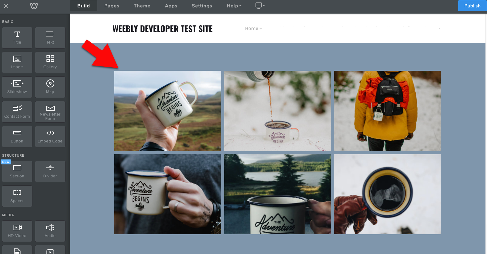 Weebly image gallery